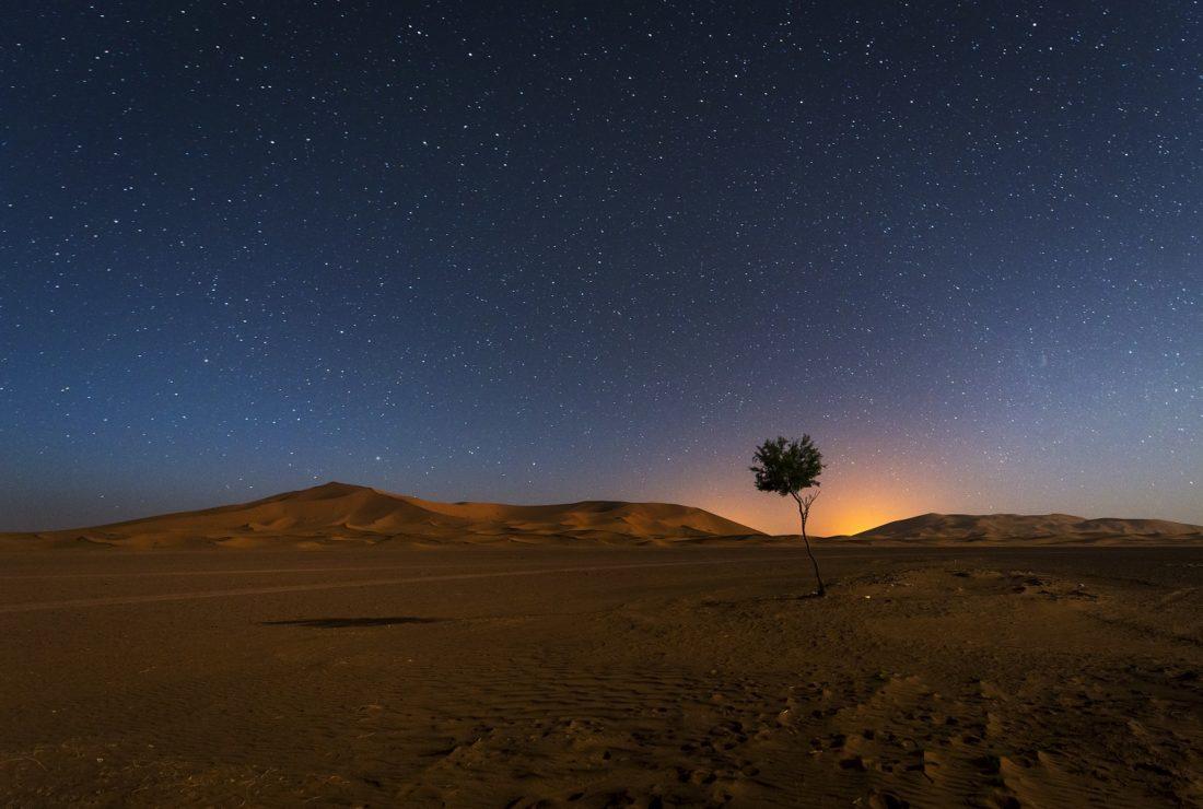 erg chebbi morocco stars