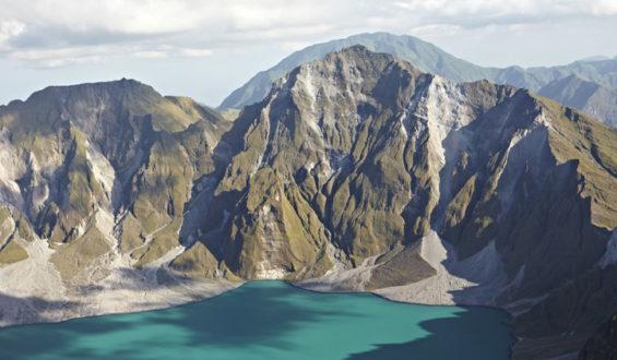 Mount Pinatubo , Luzon, Philippines