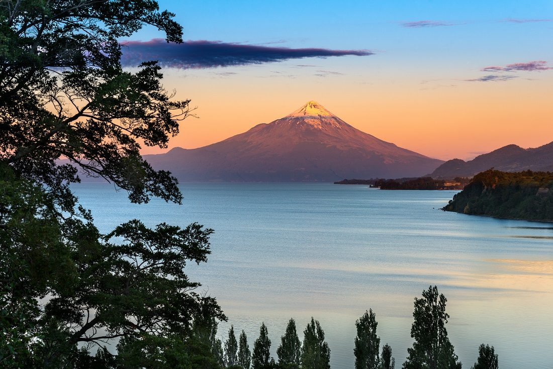 lake llanquihue southern chile fall