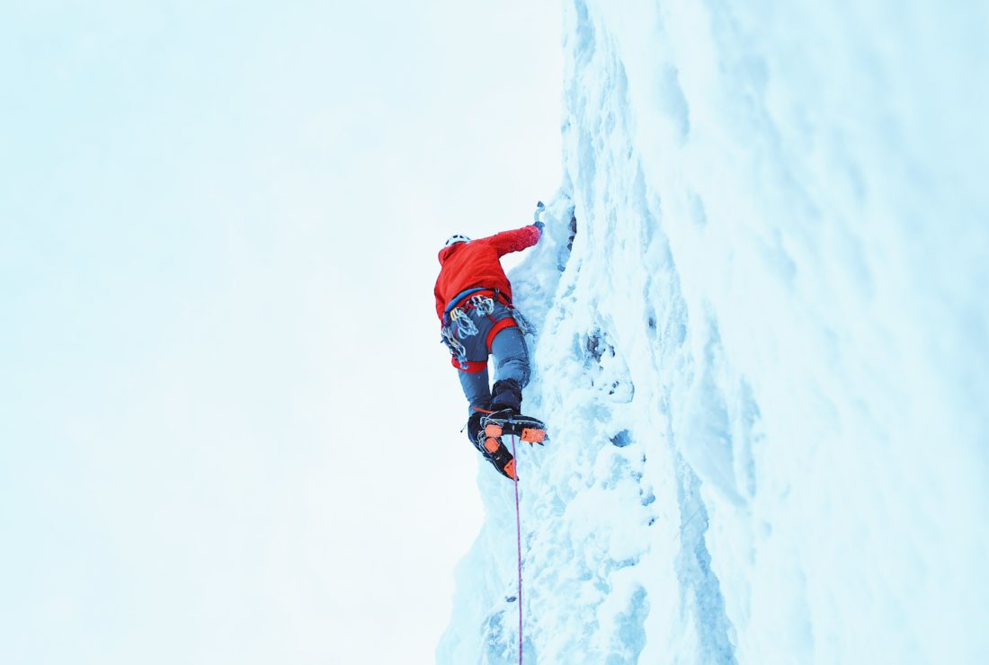 Ice climbing adventures in Iceland