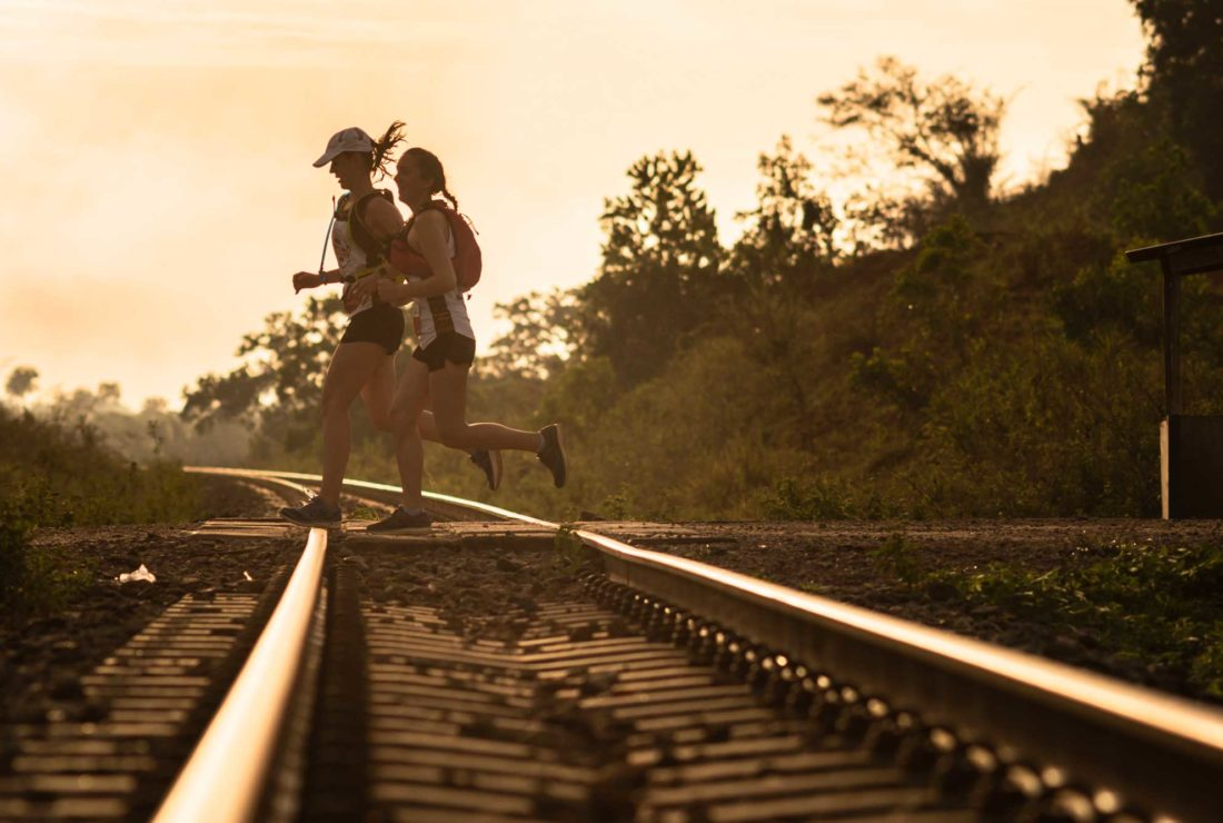 Sierra Leone Marathon running over the train track