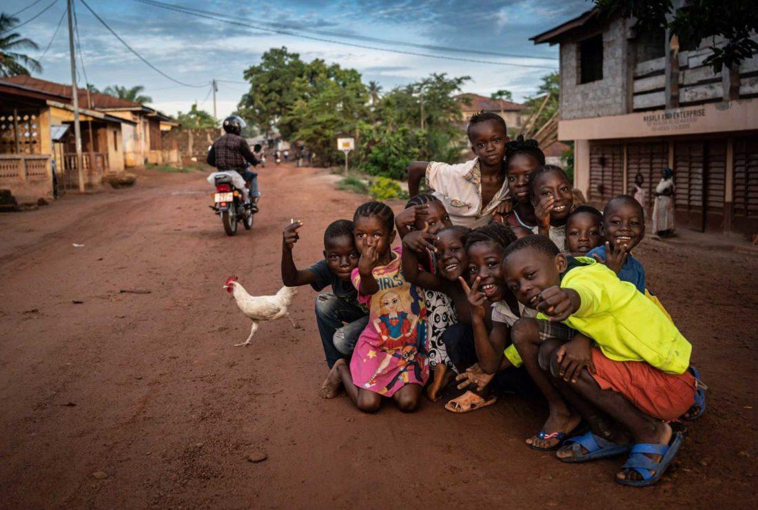 Sierra Leone marathon children
