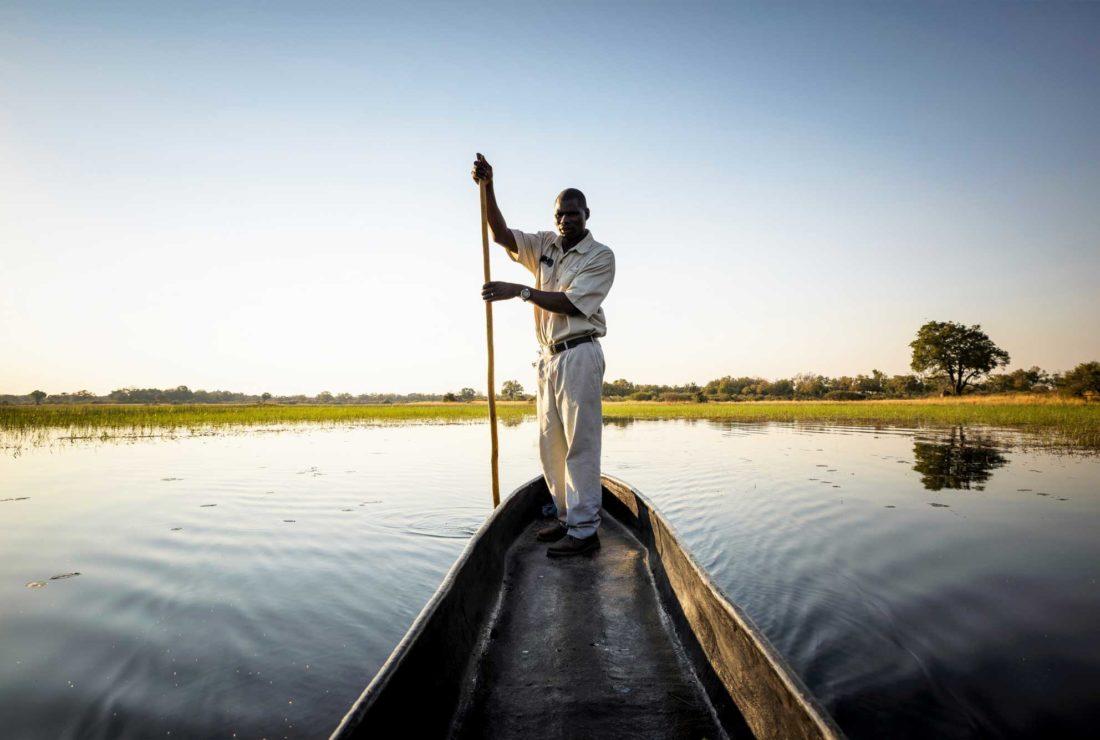 Canoe trip in Botswana