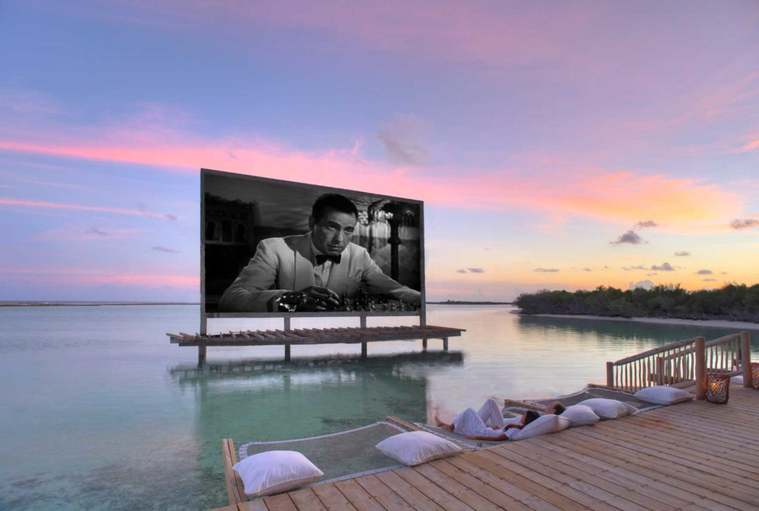 Cinema screening in the Maldives
