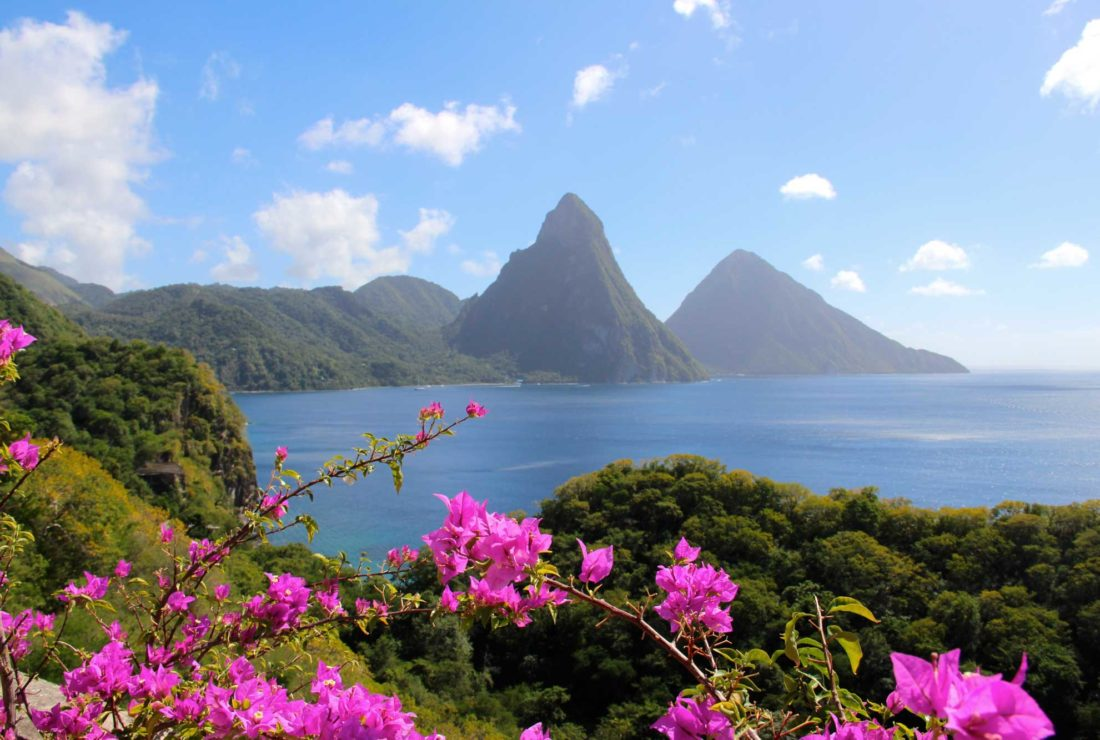 Staying at Jade Mountain, St Lucia