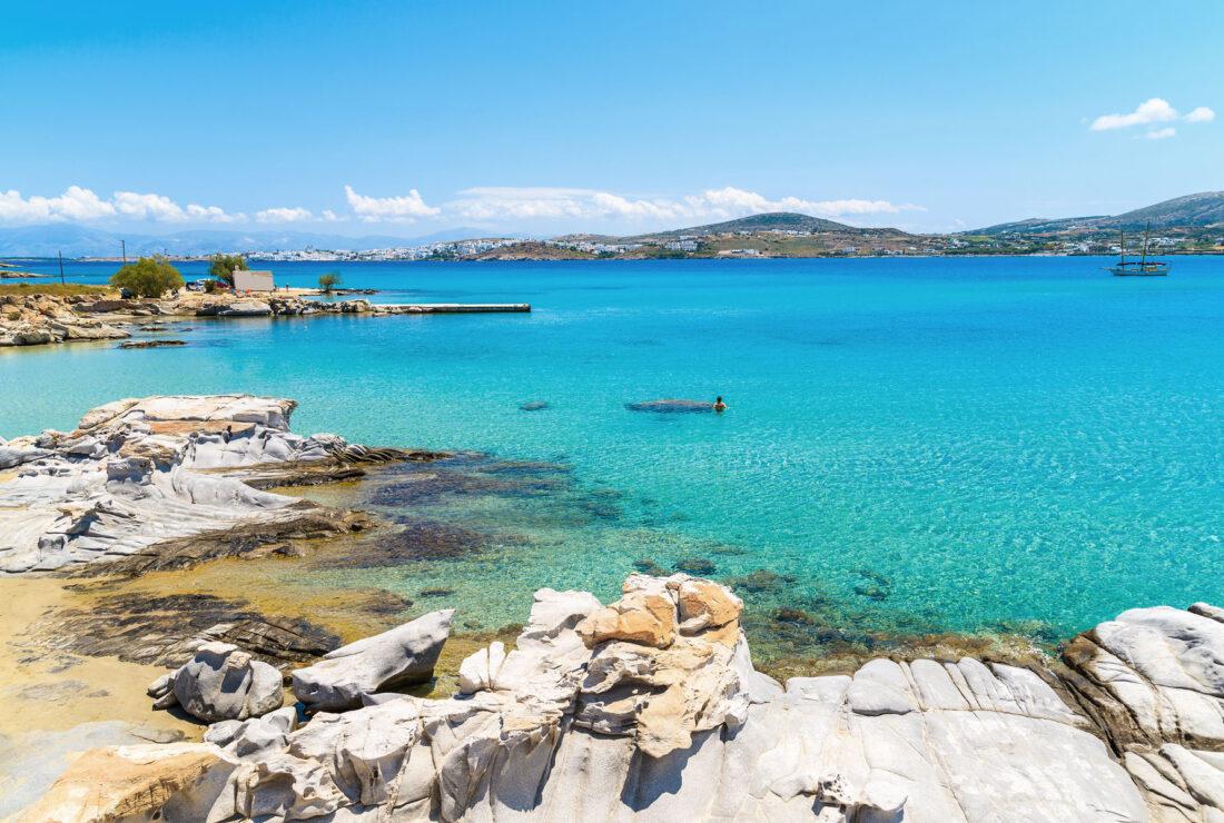 Kolimbithres Beach in Paros, Greece