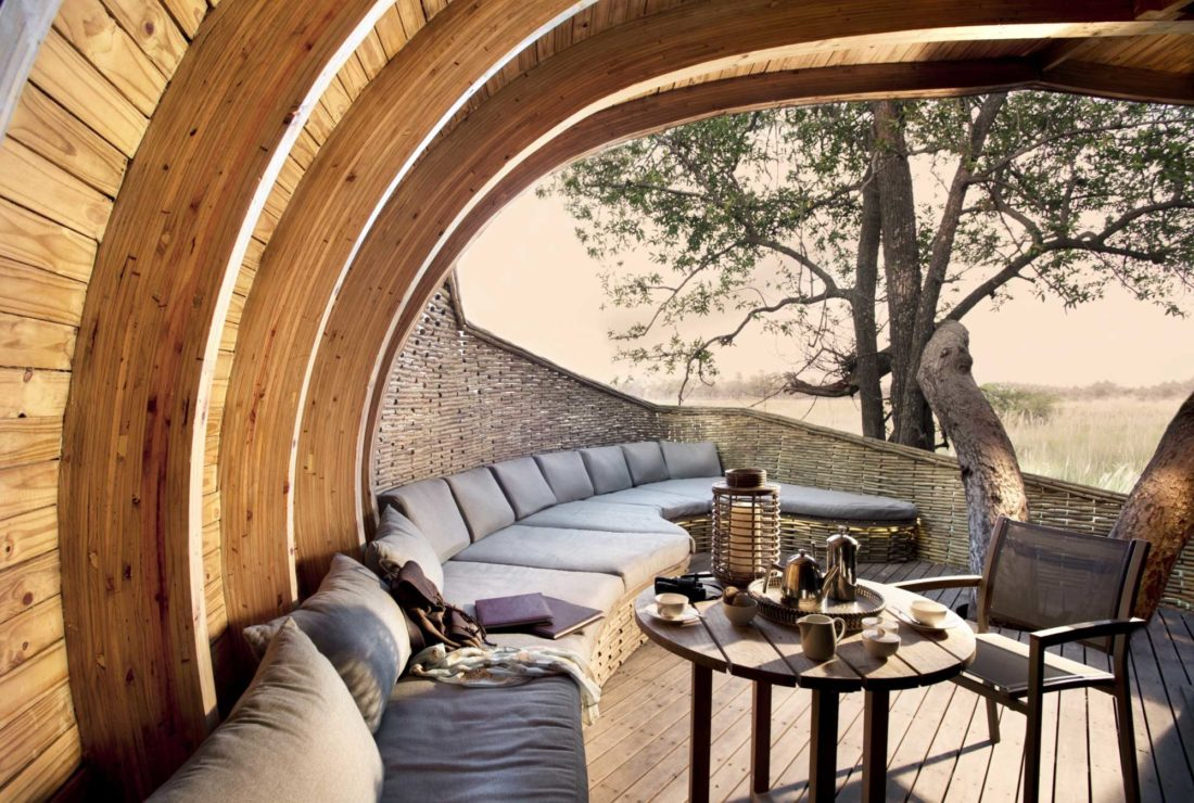 Stay at Sandibe Camp on the Okavango Delta