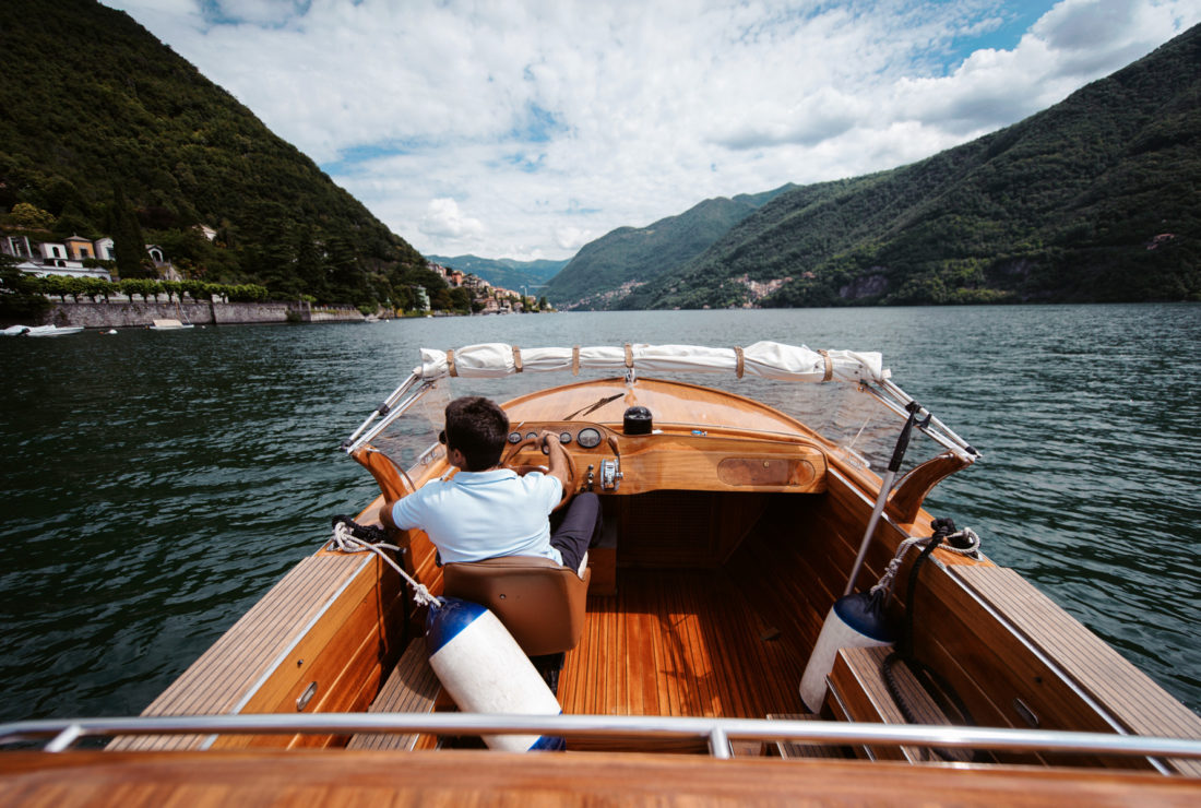 Boat tour of Lake Como