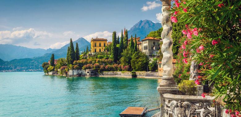 Lake Como shoreline