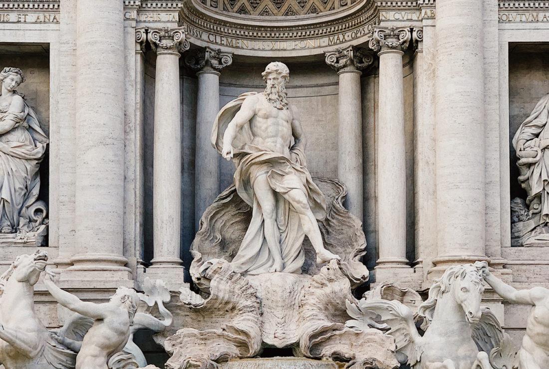 Oceanus in the Trevi Fountain