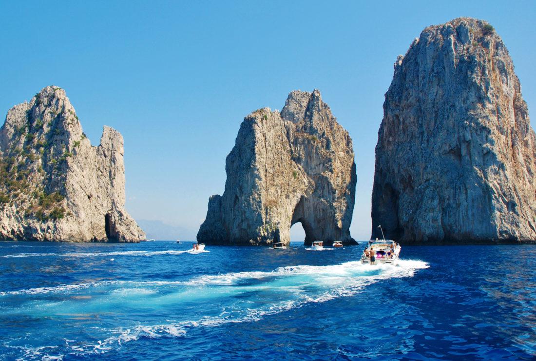 Sea boat in Capri