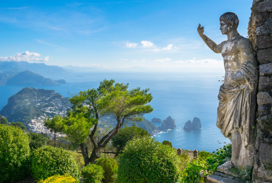 View from Mount Solaro, Anacapri