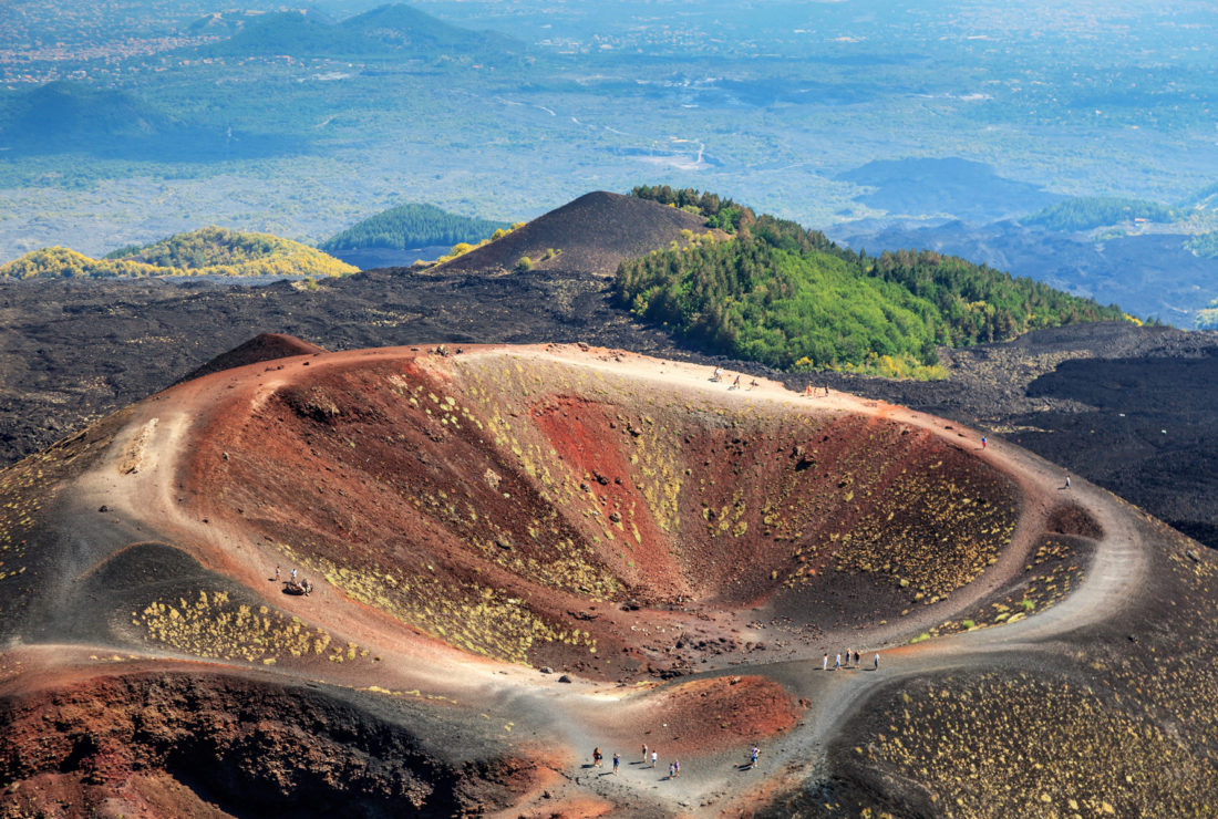 Crater on Mount Etna, Sicily