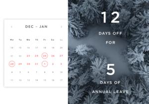 December bank holiday