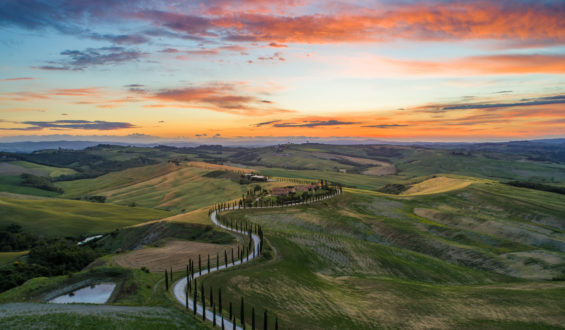 Hillside views in Tuscany