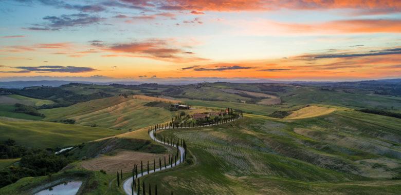 Hillside views in Tuscany