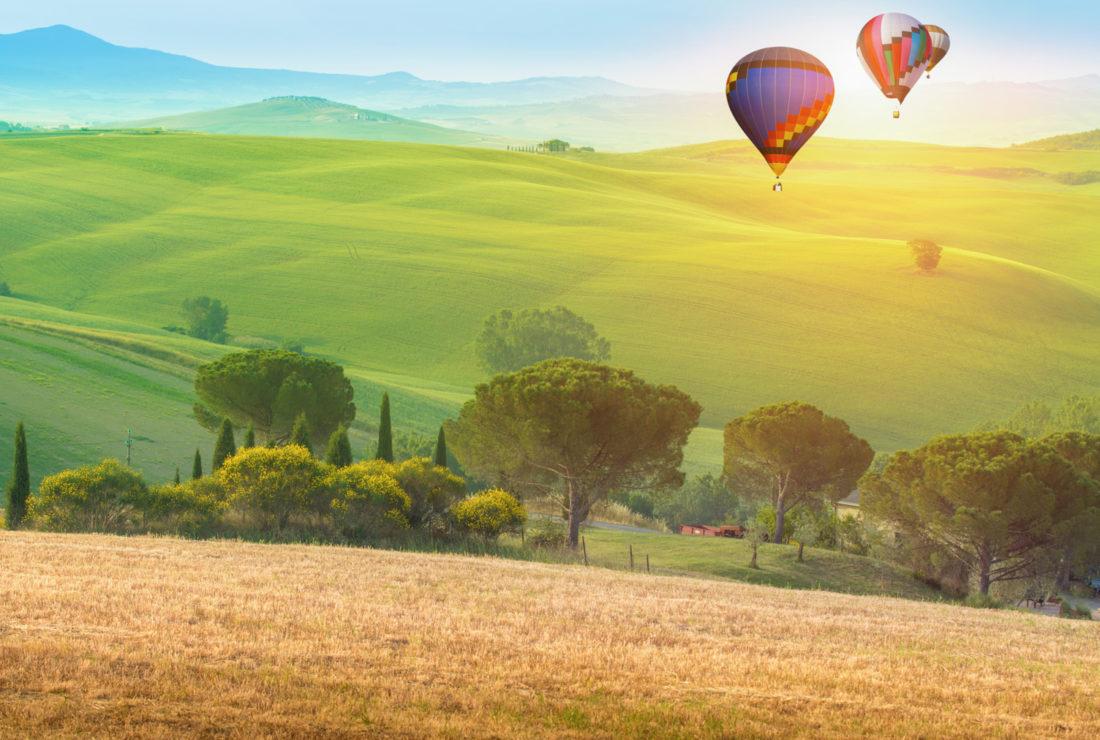 Tuscany hot air balloon ride