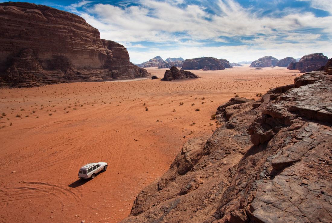 Jeep safari in Wadi Rum, Jordan