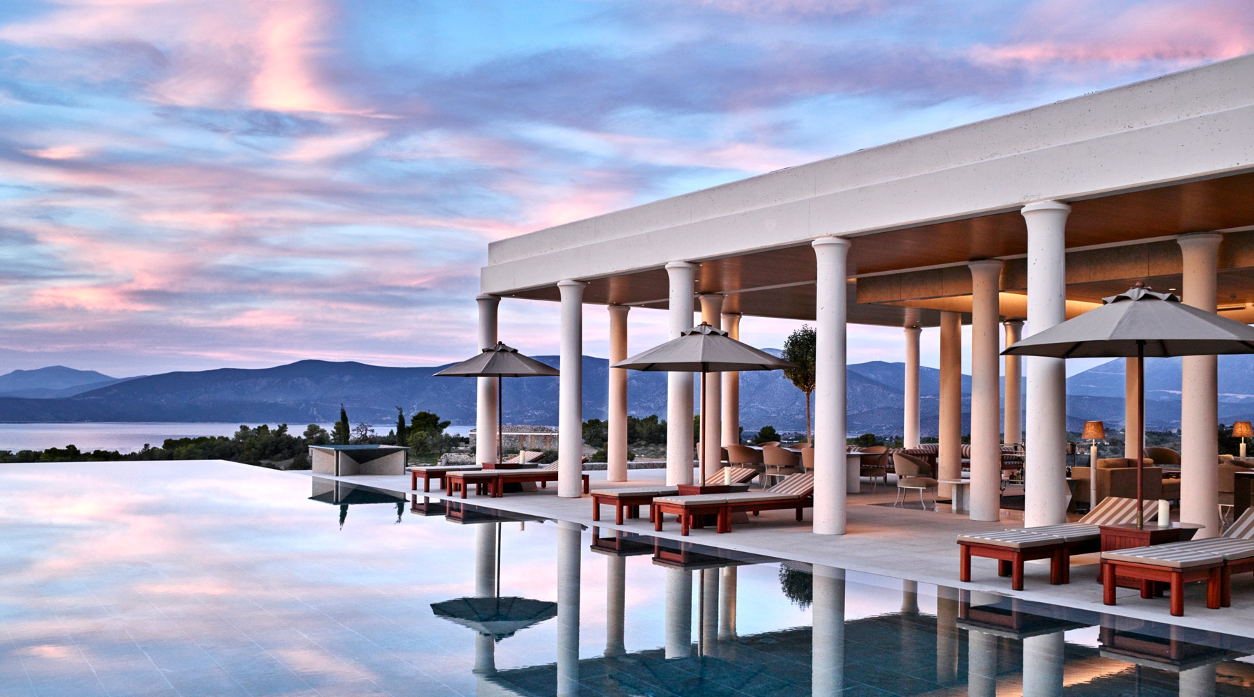 Amanzoe sea view from the pool