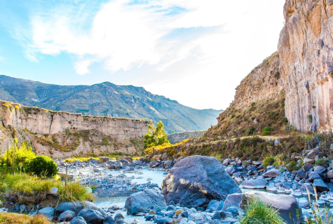 The Colca Canyon landscape