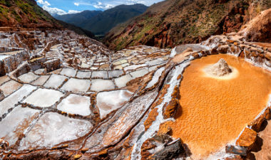 Maras salt pans in Peru
