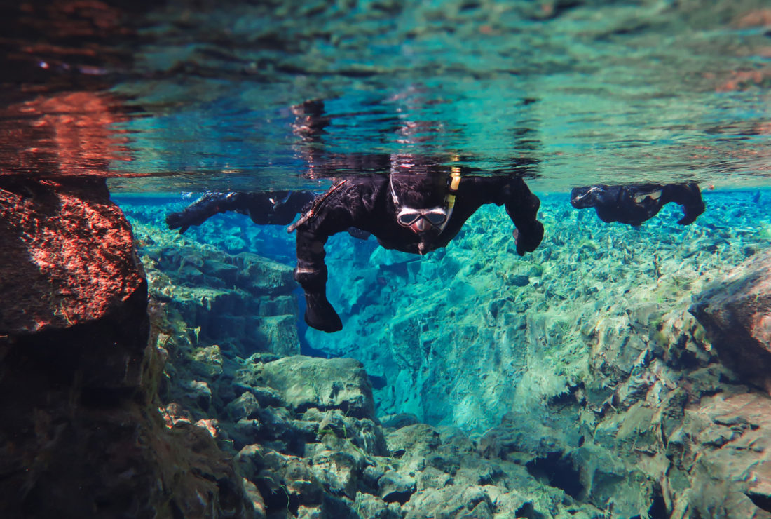 Snorkelling in Iceland's Silfra Fissure