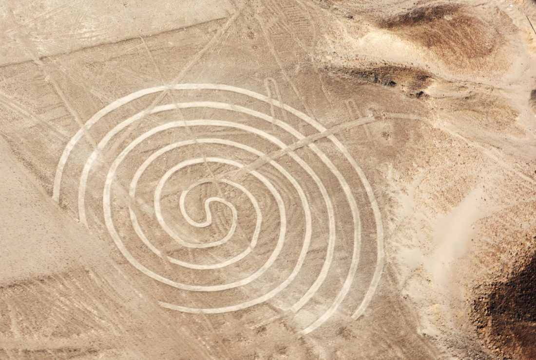 The Nazca Lines aerial spiral