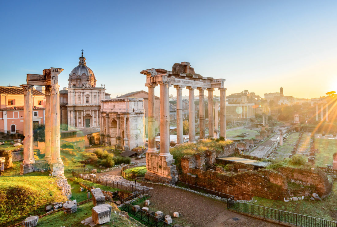 Ancient ruins in Rome, Italy