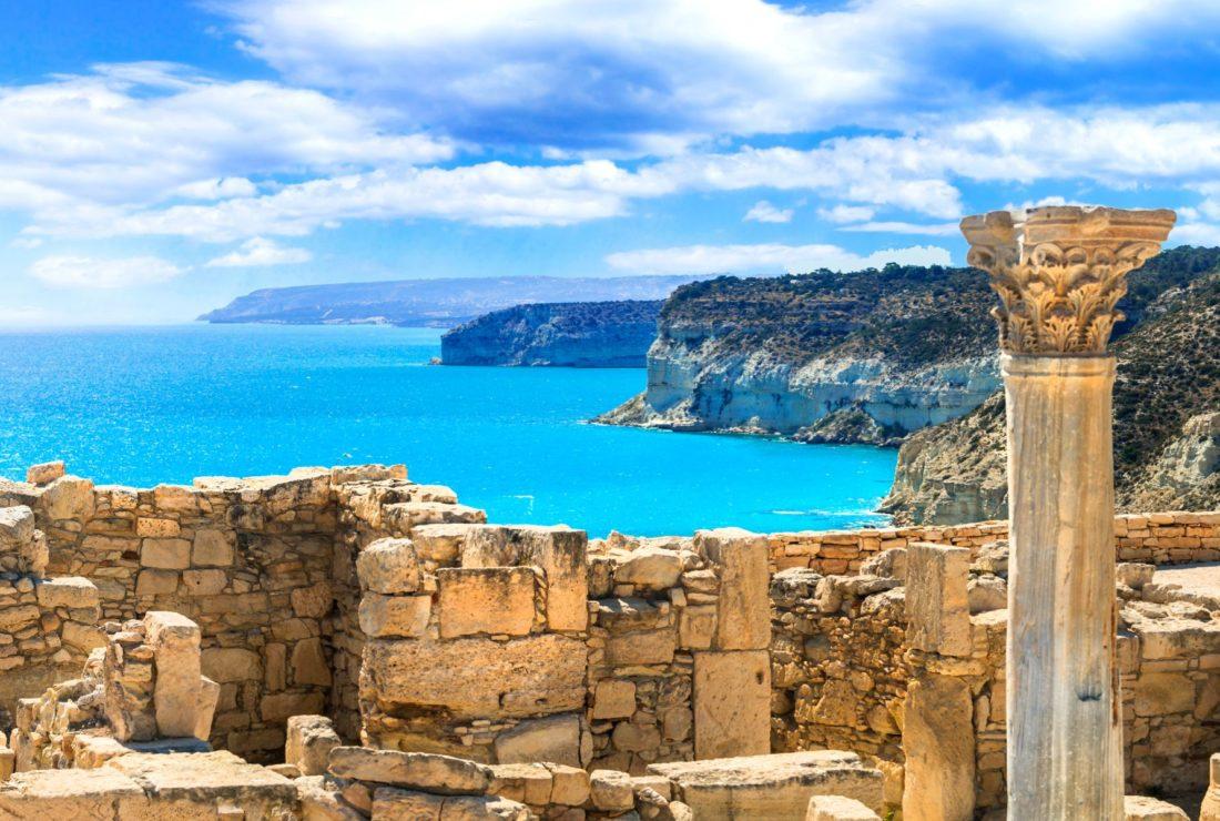 Cyprus coastline and ruins