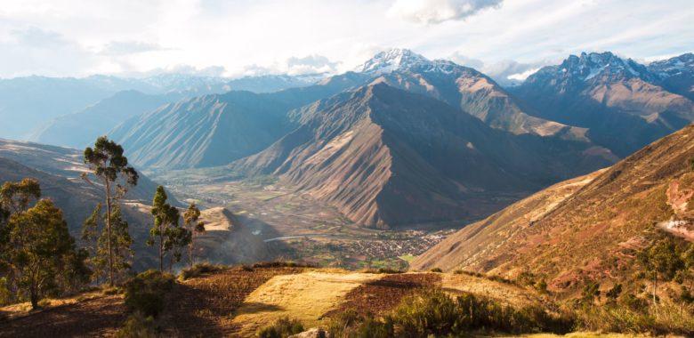 Urubamba Valley sacred valley view landscape