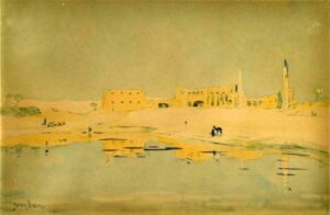 Henry Bacon, Ruins of Luxor, 1902 (Brooklyn Museum)