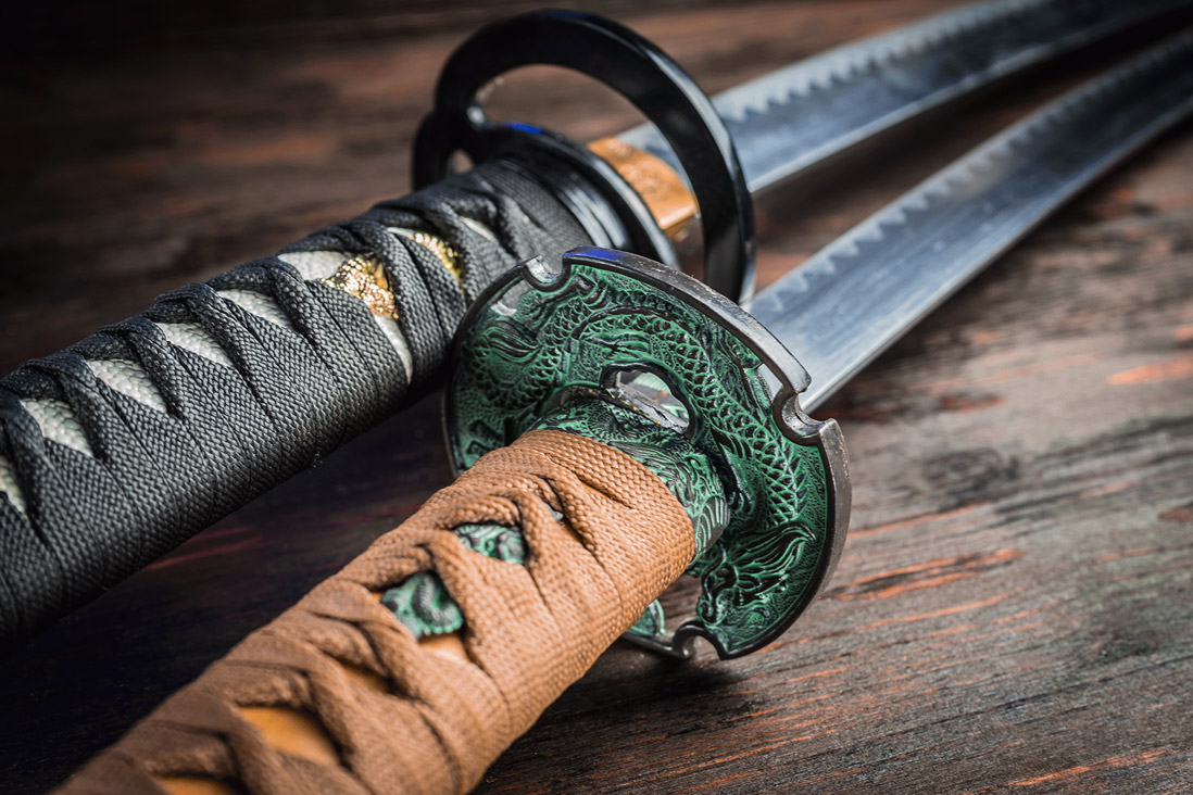 Samurai katana swords