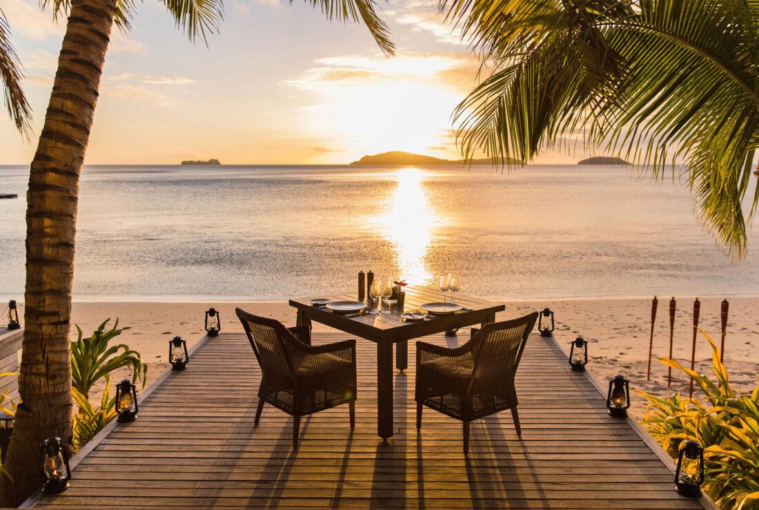 Honeymoon dining in Fiji